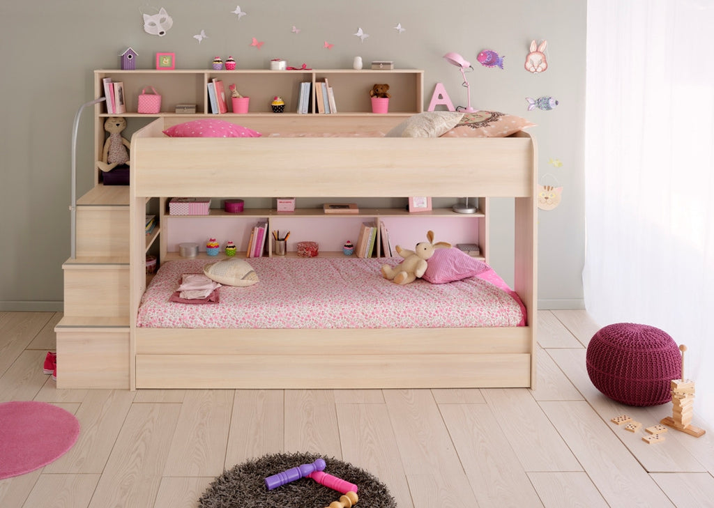 funky bedroom furniture. Parisot Bebop Acacia Bunk Bed - Childrens Funky Furniture 1 Bedroom Y