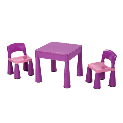 Purple Table and Two Chair Set - Childrens Funky Furniture