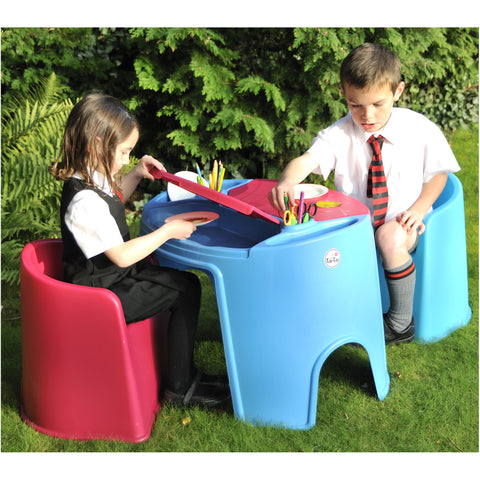 Tub Table And Four Tub Chairs - Childrens Funky Furniture