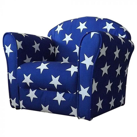 Kidsaw Mini Arm Chair Blue Stars