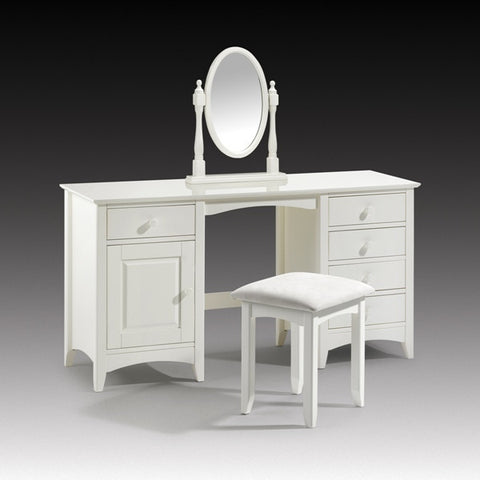 Julian Bowen Cameo Twin Pedestal Dressing Table, Stool & Mirror - Childrens Funky Furniture - 1
