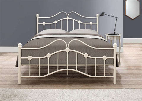 Birlea Canterbury Cream Metal Bedframe in 3 Sizes