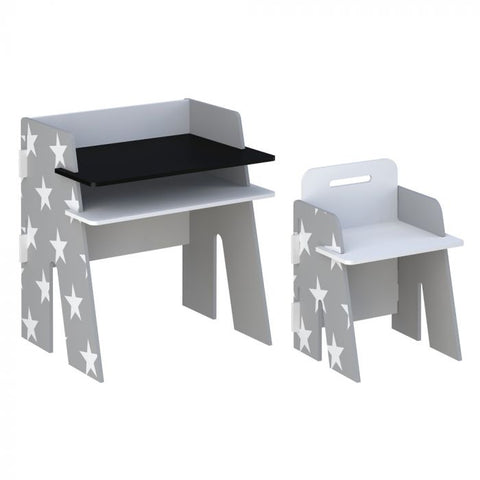 Kidsaw Star Desk & Chair - Grey