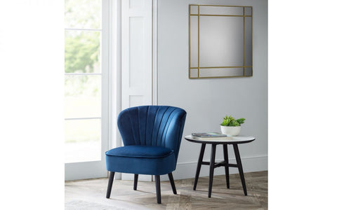 Julian Bowen Coco Accent Chair in Blue