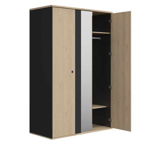 Gami Duplex 2 Door Wardrobe with mirror