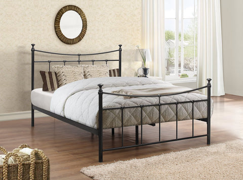 Birlea Emily Metal Bed Frame Black- Single, Small Double or Double