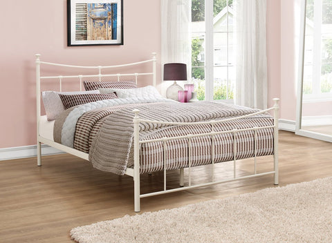 Birlea Emily Metal Bed Frame Cream- Single, Small Double or Double