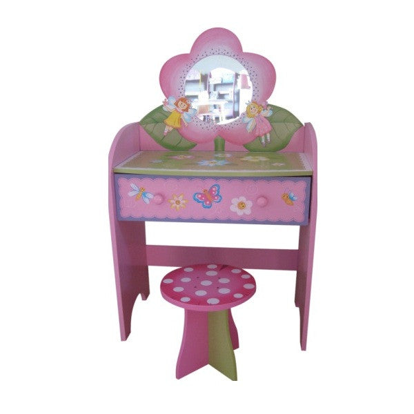Princess Toys Box Storage Kids Girls Chest Bedroom Clothes: Fairy Dressing Table And Stool