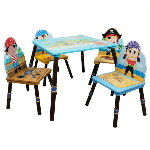 Pirate Table and Four Chair Set - Childrens Funky Furniture - 1
