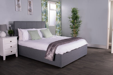 Flair Furnishings Waltz Grey Fabric Bedframe- Double or Kingsize