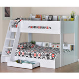 Flair Furnishings Triple Bunk Bed in White