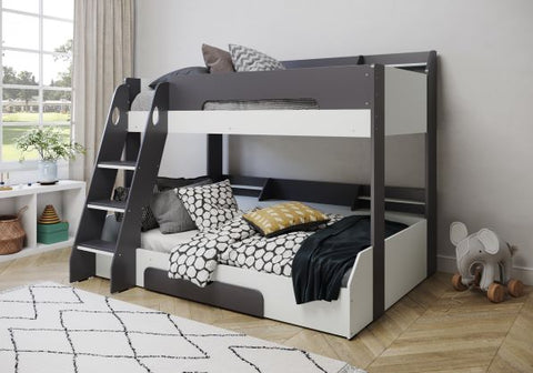 Flair Furnishings Flick Triple Bunk in Grey and White