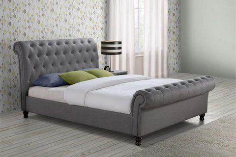 Birlea Castello Bed in Grey- Double or King Size