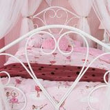 Isabella White Four Poster Bed