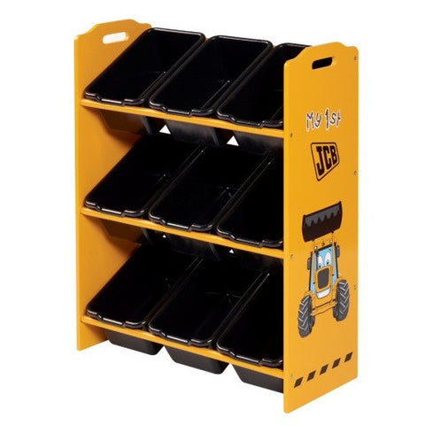 Kidsaw JCB 9 Bin Storage - Childrens Funky Furniture