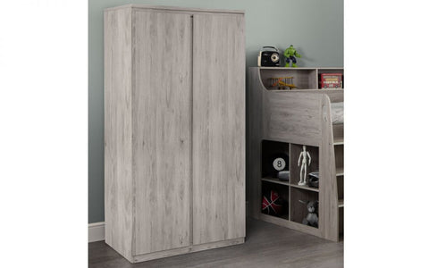 Julian Bowen Jupiter Wardrobe Grey Oak