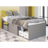 Kidsaw Low Single Cabin Bed in Grey