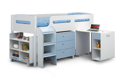 Julian Bowen Kimbo Cabin Bed - Blue - Childrens Funky Furniture - 1