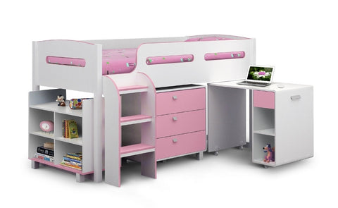 Julian Bowen Kimbo Cabin Bed - Pink - Childrens Funky Furniture - 1