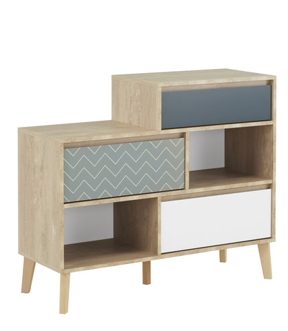 Gami Larvik 3 drawer chest with niches
