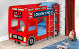 Julian Bowen London Bus Bunk Bed Bundle with 2 Mattresses
