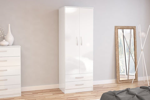 Birlea Lynx Combination Wardrobe in White