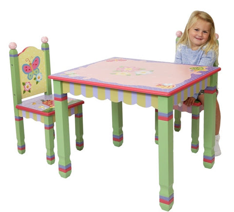 Magic Garden Table and Two Chair Set - Childrens Funky Furniture - 1