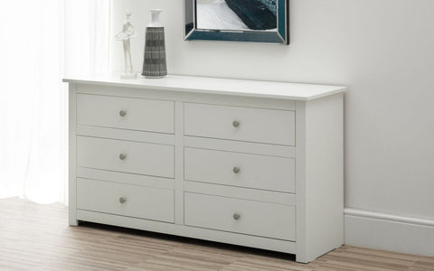 Julian Bowen Radley 6 Drawer Chest - White