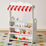 Liberty House Toys KITCHEN MARKET STALL 2 IN 1