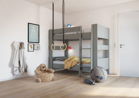 Steens for Kids Memphis UK Bunk Bed in Grey