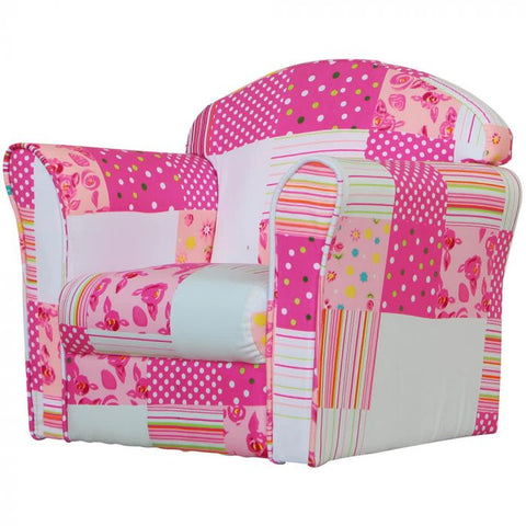 Kidsaw Pink Patchwork Mini Armchair