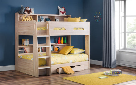 Julian Bowen Orion Bunk Bed White or Light Oak