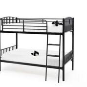 Oslo Metal Bunk Bed in Black or White