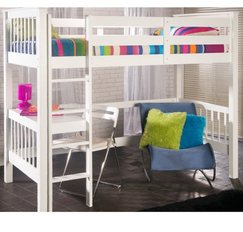 Pavo Study High Sleeper White - Childrens Funky Furniture