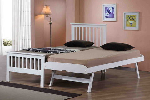 Pentre Guest Bed In White Finish - Childrens Funky Furniture