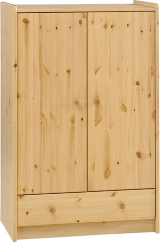 Steens for Kids Low Wardrobe Natural Pine Lacquer