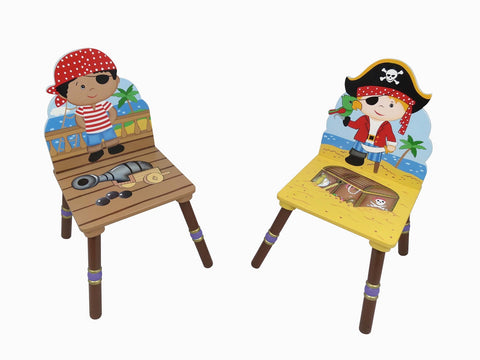 Pirate 2 Chair Set (Black & Red Hat) - Childrens Funky Furniture