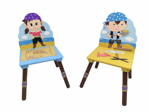 Pirate 2 Chair Set (Blue & Purple) - Childrens Funky Furniture