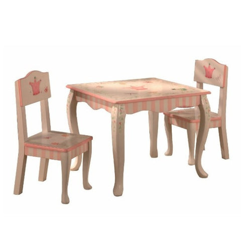 Princess and Frog Table and Two Chair Set