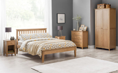 Julian Bowen Salerno Oak Bed- Single, Double or King Size