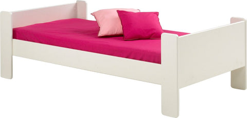 Steens for Kids White Single Bed in Plain White