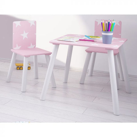 Kidsaw, Star Table & Chairs - Pink
