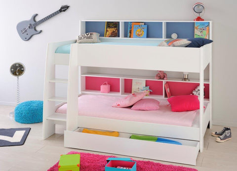 Parisot Tam Tam Bunk Bed - White - Childrens Funky Furniture - 1