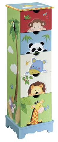 Sunny Safari 5 Drawer Cabinet - Childrens Funky Furniture