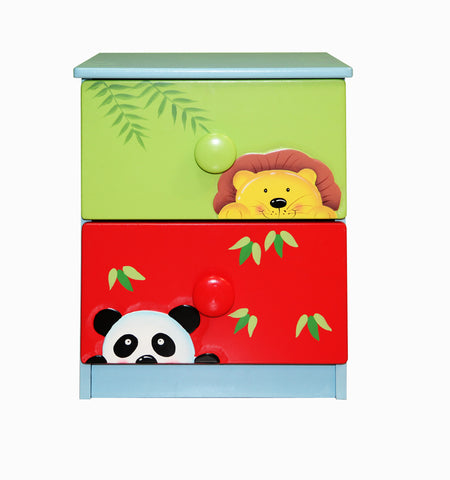 Sunny Safari 2 Drawer Bedside - Childrens Funky Furniture