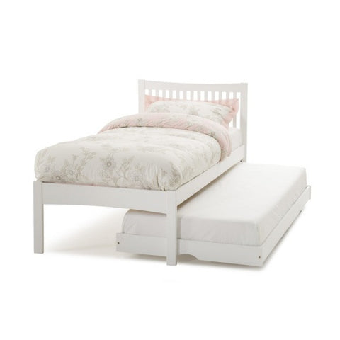 Mya 3Ft Single/Guest Bed - Opal White - Childrens Funky Furniture