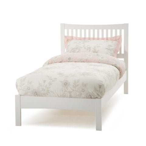Mya 3ft Low Foot Single Bed in Opal White - Childrens Funky Furniture