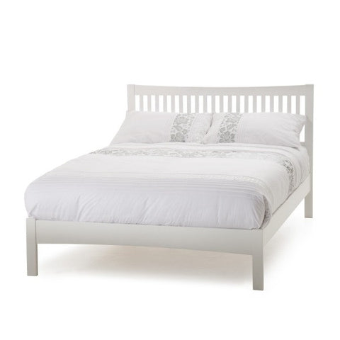 Mya Small Double Bed in Opal White - Childrens Funky Furniture
