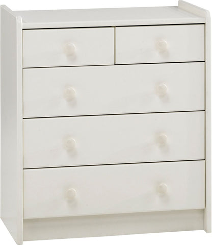 Steens for Kids White 3+2 Chest of Drawers