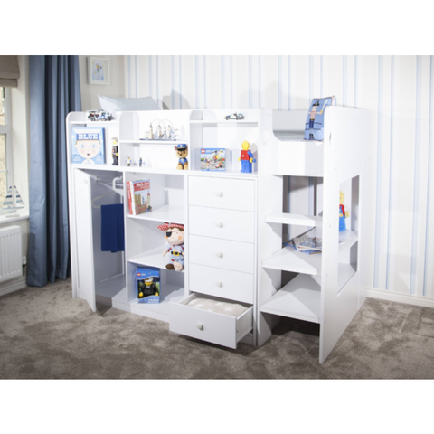 FLAIR FURNISHINGS WIZARD JUNIOR HIGH SLEEPER STORAGE STATION